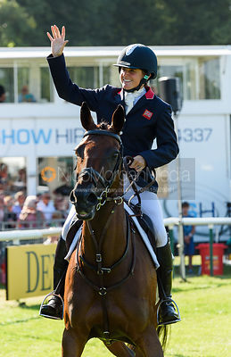Piggy French and VANIR KAMIRA, show prize giving, Land Rover Burghley Horse Trials 2018