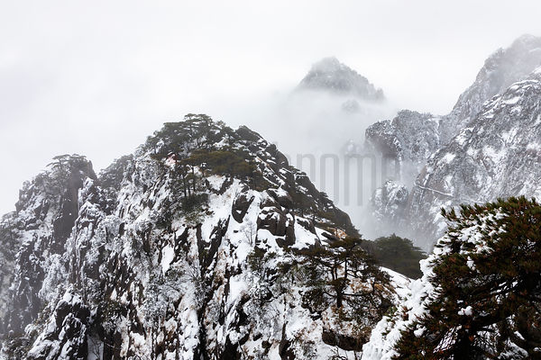 Huangshan Peaks Apperaring from the Mist