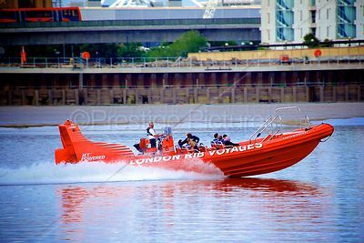 Rib Voyage's Captain Rocket Speed Boat on the River Thames