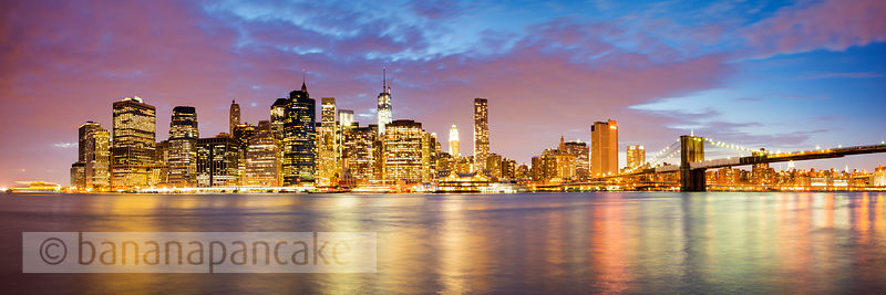 The Manhattan skyline from Brooklyn Bridge Park, New York - BP3805