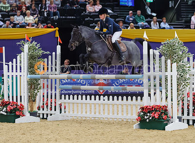 Anna Wilks and Monbeg Hero, Horse of the Year Show 2010