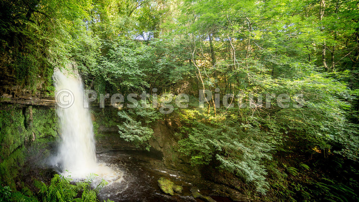The idyllic Glencar Waterfall in County Leitrim