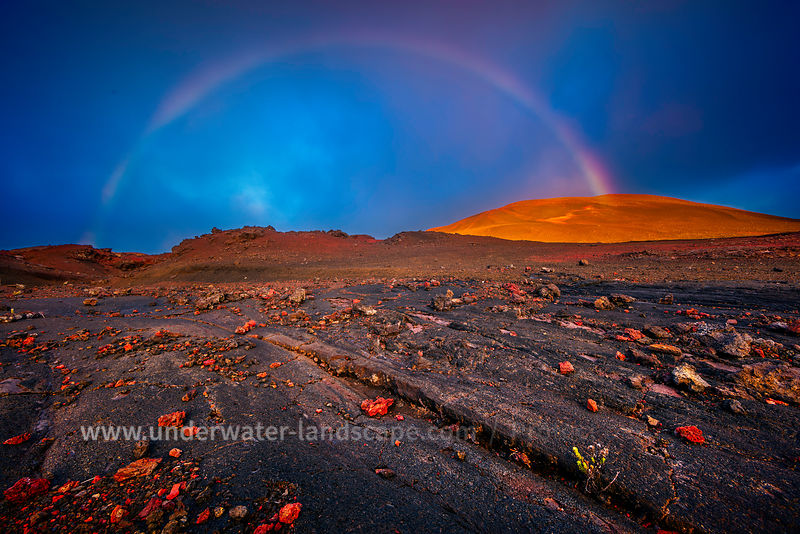 Rainbow in the Plaine des Sables