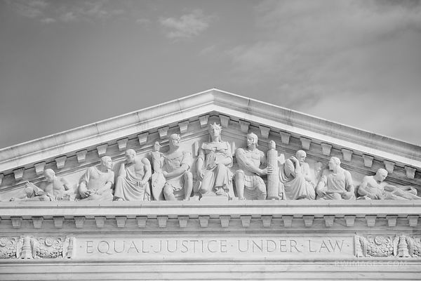 SUPREME COURT BUILDING WASHINGTON DC BLACK AND WHITE