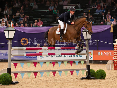 Robert Maguire and Elixir ST - Horse & Hound Senior Foxhunter Championship - HOYS 2011