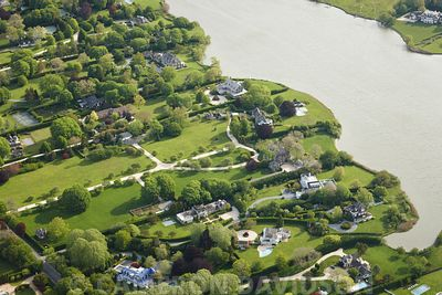 Aerial photograph of the Hamptons
