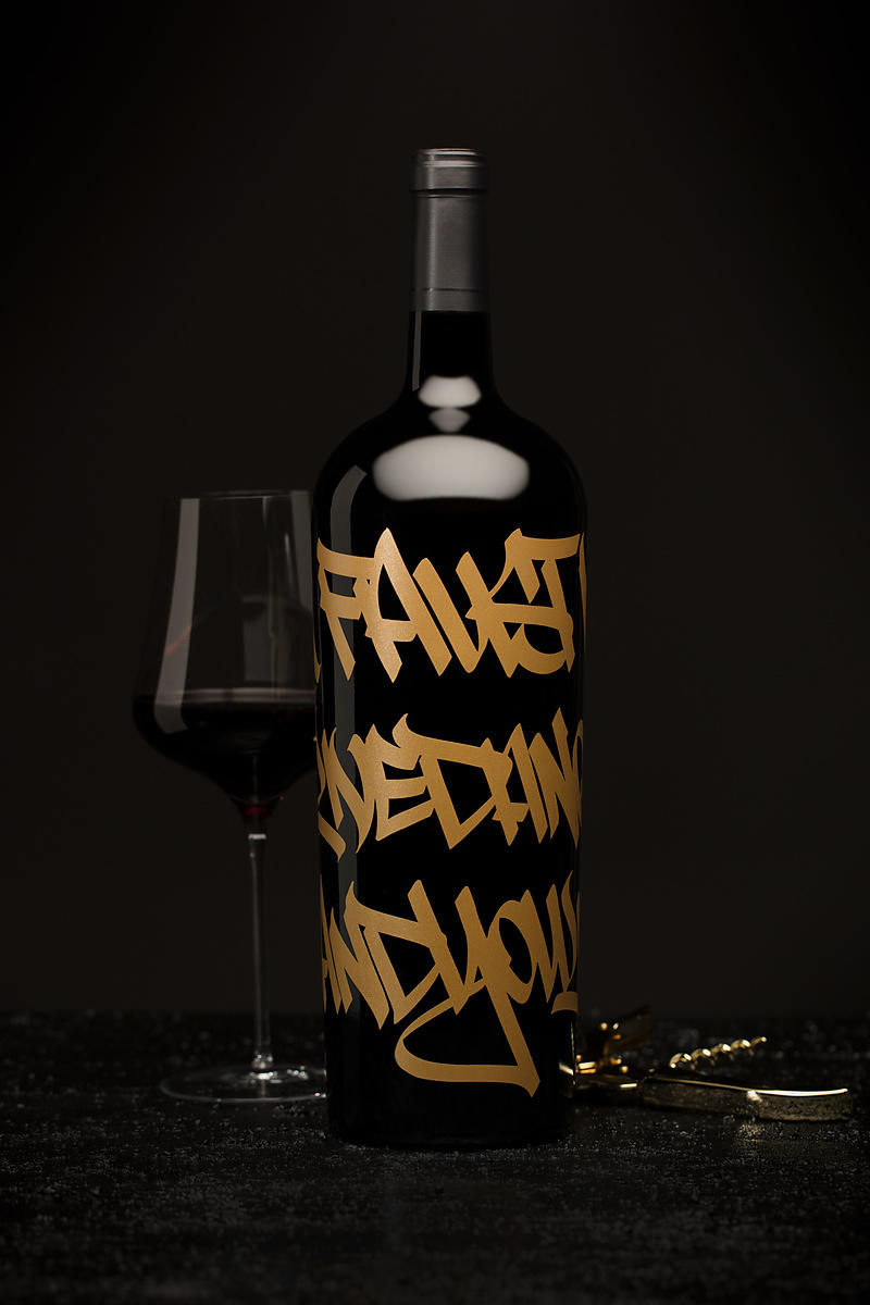 Fine wine and lifestyle wine photography for Faust Wine by Jason Tinacci
