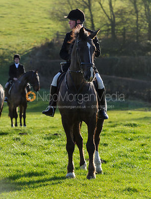 Followers at the meet - The Belvoir Hunt at Stonesby, 19/12