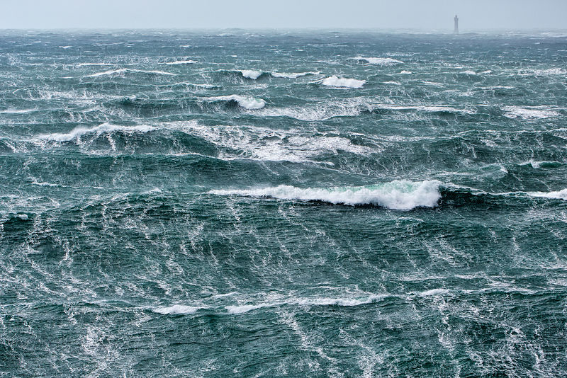 Rough seas during Storm 'Ruth', Parc Naturel Regional d'Armorique, la mer demontee lors de la tempete 'Ruth' le 8 fevrier 2014.