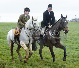 Ned Hercock, Tim Hercock at Knossington Spinney - The Fitzwilliam Hunt visit the Cottesmore at Burrough House