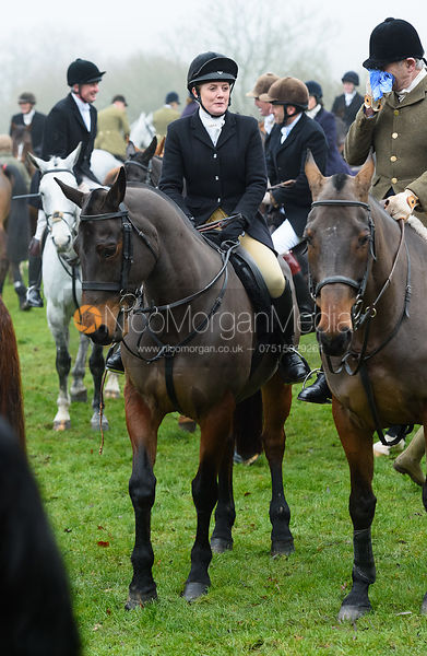 At the meet. The visit of the Wynnstay Hounds to the Cottesmore 27/11