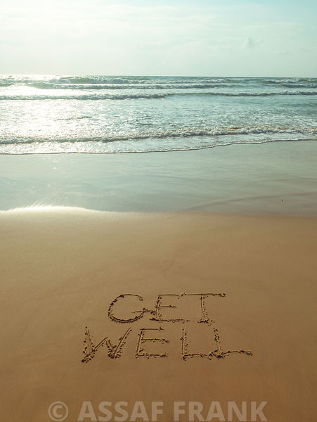 Get well written on the beach