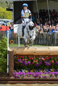 Francis Whittington and  EASY TARGET - Cross Country phase, Mitsubishi Motors Badminton Horse Trials 2014