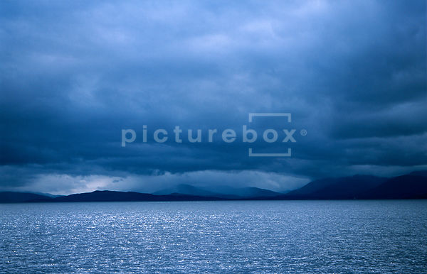 Stormy scottish scene, landscape.