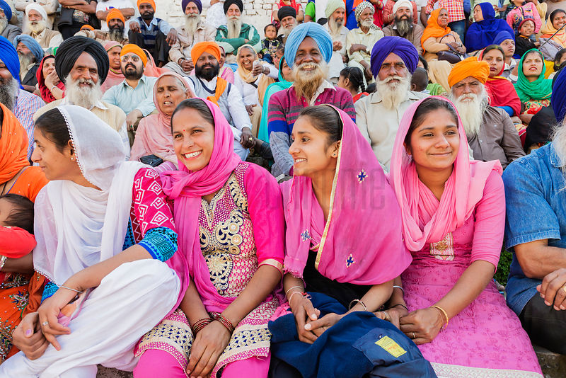 Crowds Gather to Watch the Horse Games During the Holla Mohalla Festival
