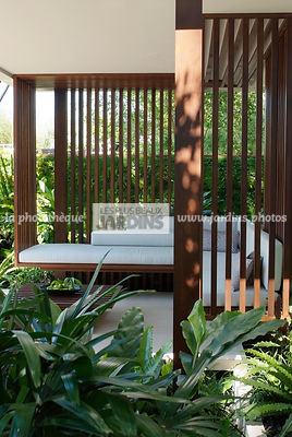 Asiatic garden, Contemporary garden, Exotic garden, Resting area, Tropical garden, Wood, Malaysian garden,