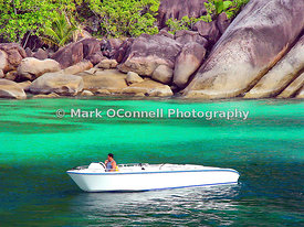 Mosaique tender in the Seychelles