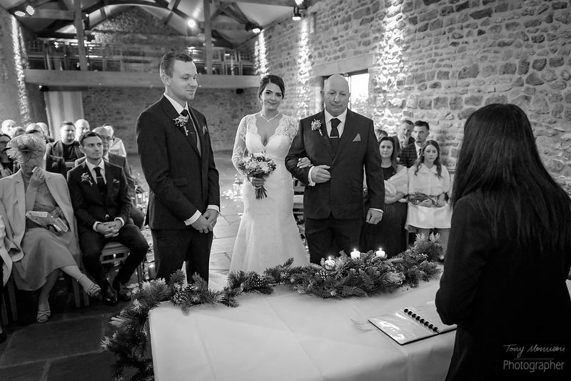 B&W Preview of Danielle & James's #BigDay #Christmas #Wedding at @DodfordManor #Weddingphotography  #weddingphoto #loveanddev...