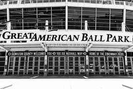 Cincinnati Great American Ball Park Black and White Picture