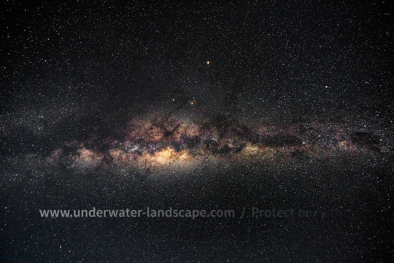 Milky way colors from la reunion