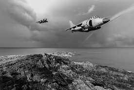 Sea Harriers over the Falklands