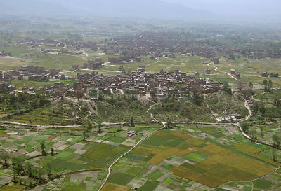 NEPAL Kathmandu -- 16 Apr 2005 -- Aerial photograph of the eastern part of the Kathmandu valley