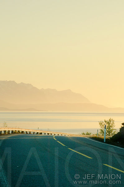 Beautiful road by sea cost