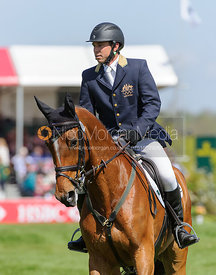 Sam Griffiths and PAULANK BROCKAGH - show jumping phase,  Mitsubishi Motors Badminton Horse Trials, 6th May 2013.