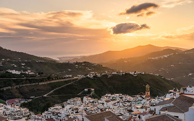 December sunset over Competa