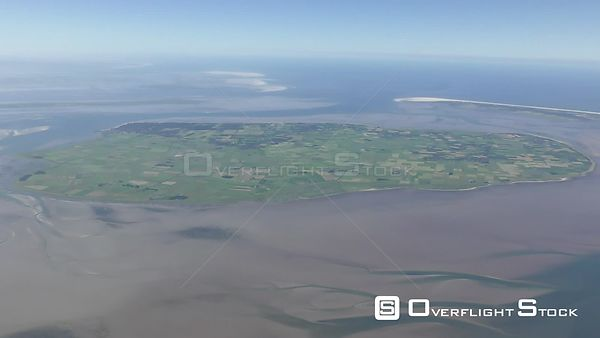 Coastal area of ​​the North Sea - Island Fohr in the state of Schleswig-Holstein