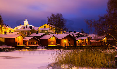 Old Porvoo in Noverber 2016