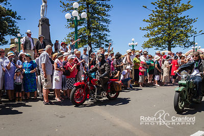 Art Deco Saturday 2012 - Vintage Car Parade.  Motorcycles