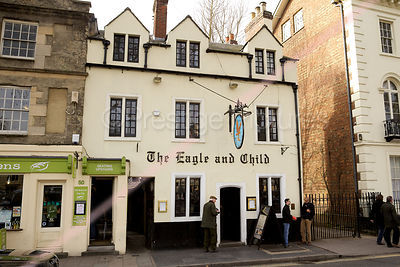 The Famous Eagle and Child Pub in Oxford