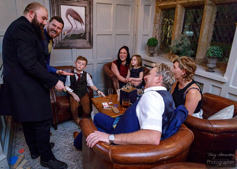 1st look preview of Jo & Mart's #BigDay #NewYear #Wedding at @weston1234 (Weston Hall) @Adam Cooper Magic casts his spells #W...