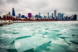Chicago Winter Skyline Picture