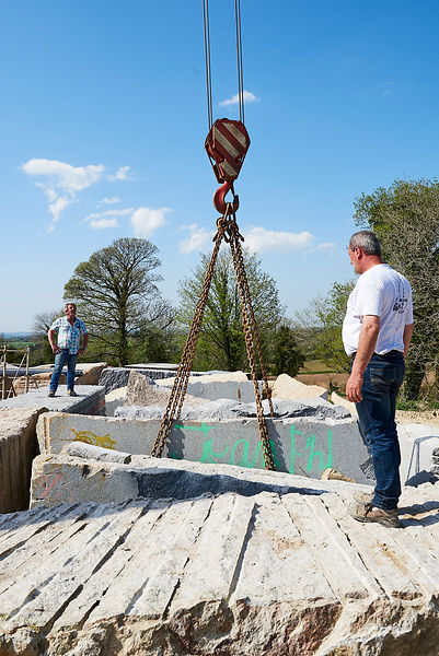 Chantier de la Vallée des Saints à Carnoët, Printemps 2018