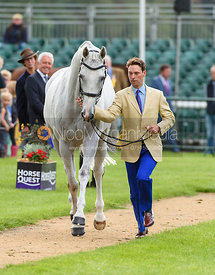 Harry Meade and AWAY CRUISING at the trot up, Land Rover Burghley Horse Trials 2018