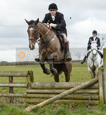 Max Chenery jumping a fence at Burrough House