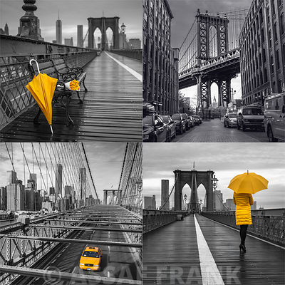 Collage of famous places in New York city