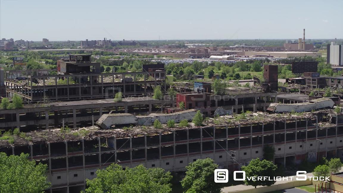 Drone Video Abandoned Packard Plant. GM Detroit-Hamtramck Assembly Detroit Michigan