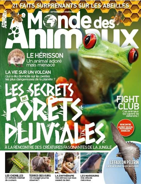 Le Monde des Animaux (France) - August 2018
