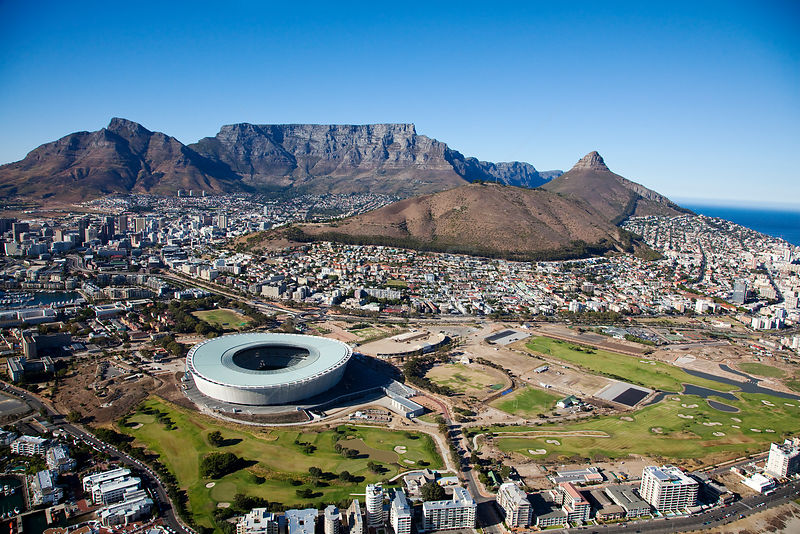 Aerial photo of Cape Town, Western Cape, South Africa, August 2009