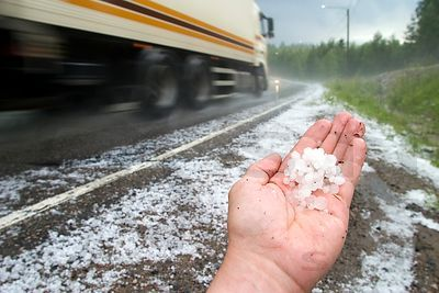 Hails on Road