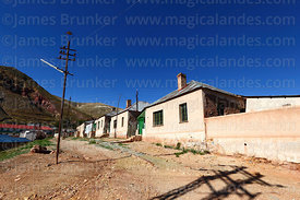Company housing in historic mining town of Pulacayo, Potosi Department, Bolivia