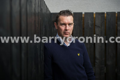 8th May, 2015. Former GAA Star Oisín McConville photographed at his home in Crossmaglen,County Armagh.Photo:Barry Cronin/www....