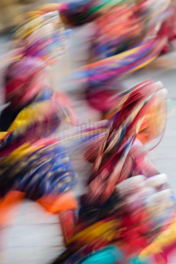 Motion Blurred Performers at the Trongsa Domche