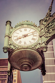 Chicago Great Clock Vintage Photo