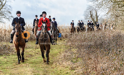 Mike Chatterton, Tom Kingston at Croxton Park. The Belvoir Hunt at Eaton Grange 7/2