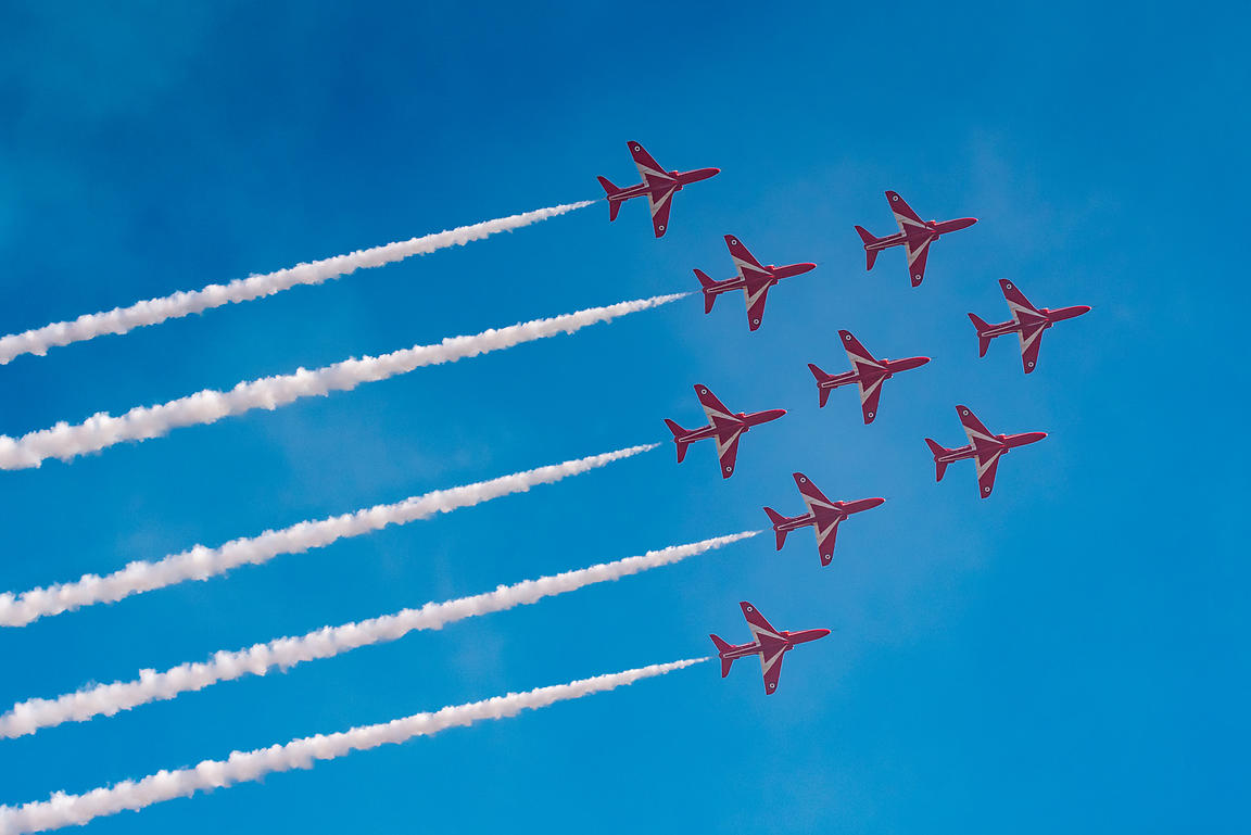 Red Arrows Apollo formation