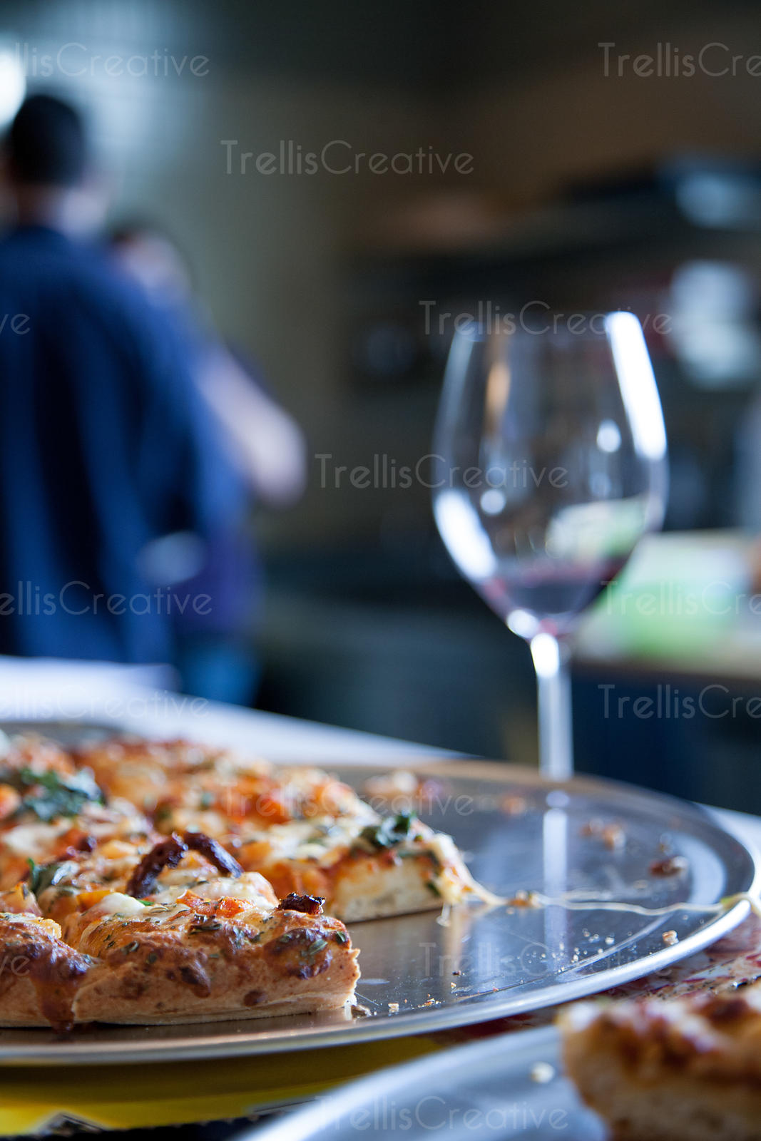 Pizza Party with Red Wine